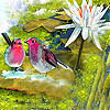 Birds chatting slide puzzle