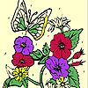Butterfly garden coloring