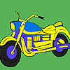 Cross road  motorcycle coloring