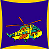 Equipped helicopter coloring