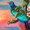 Fantastic blue bird puzzle