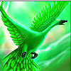 Flying green goose slide puzzle