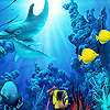 Funny deep sea fishes slide puzzle