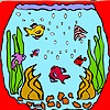 Mini aquarium fishes coloring