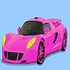 Pink gorgeous car coloring