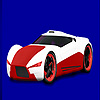 Red concept racing car coloring