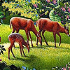 Three friends in the woods slide puzzle